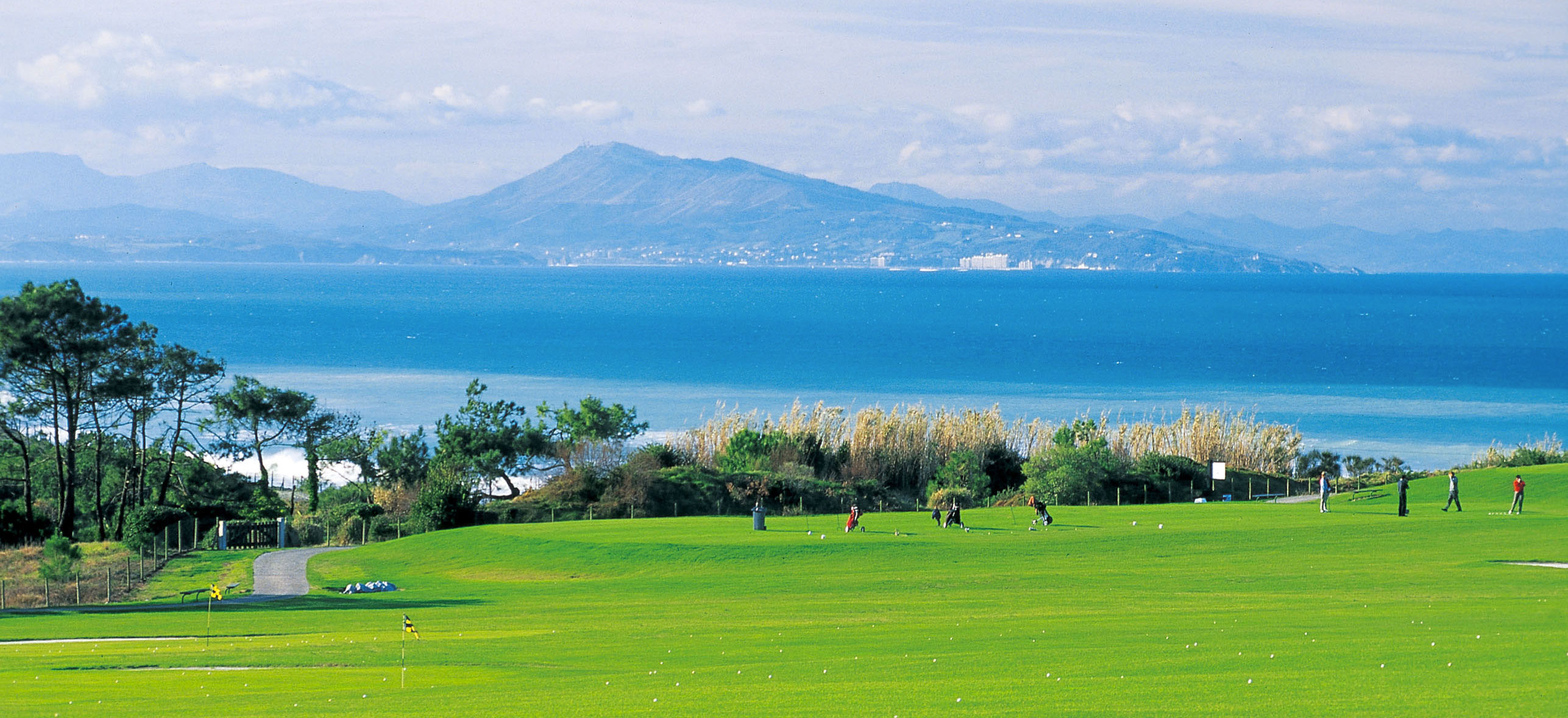 video aérienne du golf d'ilbarritz